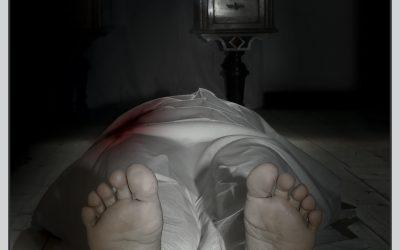 """Die Leiche, auch sie gehört zur """"Pechmarie""""."""